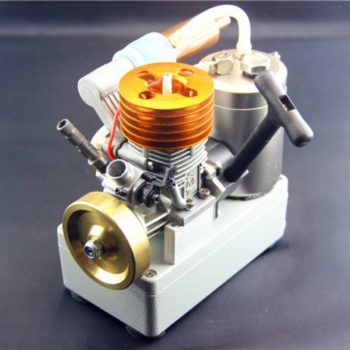 18-stage Methanol Engine Micro Small Engine Copper Flywheel Straight Exhaust Pipe with Voltage Display Switch