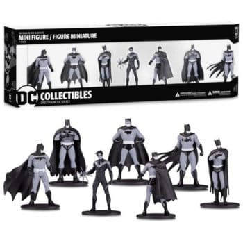 Batman Black & White Mini Figure 7-Pack, Group 1