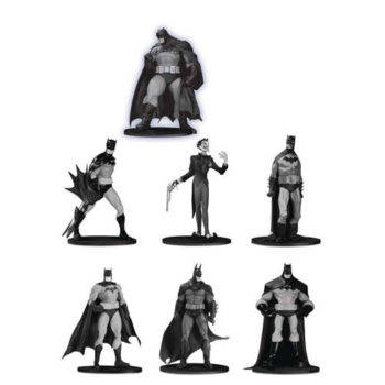 Batman Black & White Mini Figure 7-Pack, Group 3