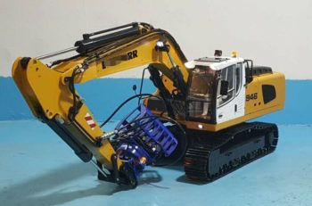 High Quality 1/14 RC Remote Control Metal Hydraulic Excavator Model-946 Collectible Toy Gift 5 ways