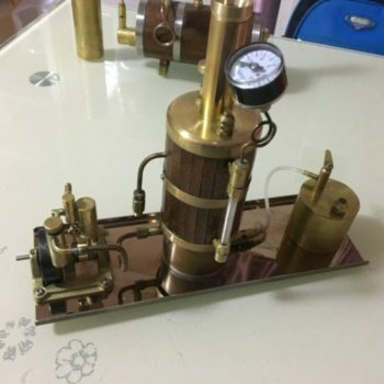 Boiler Marine Steam Engine Kit suitable with level gauge combustion