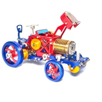 Vacuum Fire Stirling Tractor Engine Aluminum Alloy Model Toy For Christmas Gift