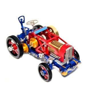 SaiHu SH-08 Vacuum Fire Stirling Tractor Engine Aluminum Alloy Model Toy for Christmas Gift