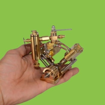 Microcosm Q2B V-twin cylinder steam engine Live Steam Model