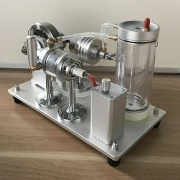 Amazing Cool Hot Air Stirling Engine Model Self-circulating Water Cooling Motor