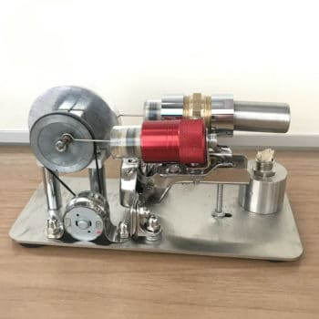 Mini Hot Air Stirling Engine Model Toy DIY Air Heating Engine Generator Motor
