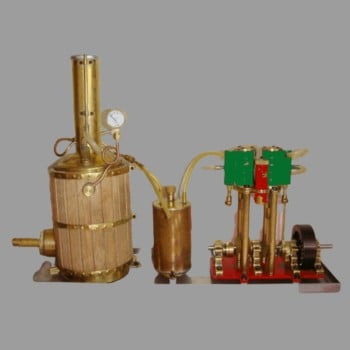 New Model 2019 Metal Double Cylinder Steam Engine Handmade Customizable Gift