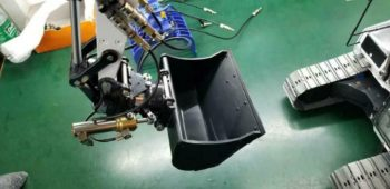 Hydraulic Excavator Rotation For Experiments and Tilt Wide Bucket For Model Toy