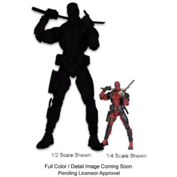 deadpool 1/2 figure with 1/4 scale