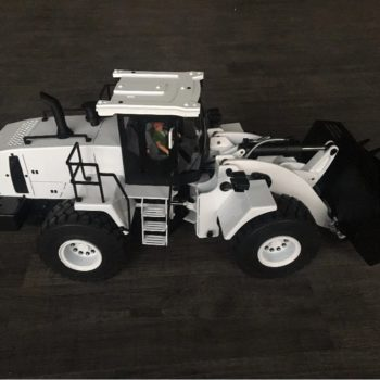1/14 RC Hydraulic Bulldozer Wheel Loader White