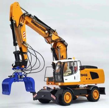 1/14 RC Remote Control Metal Hydraulic Wheel Excavator Model-946EW Gift