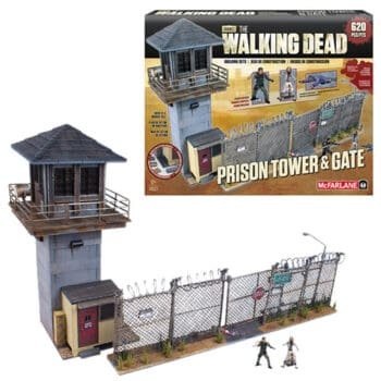 The Walking Dead Prison Tower And Gate Set